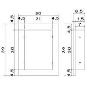 Arandela básica em acrilico 39x30x9,5cm