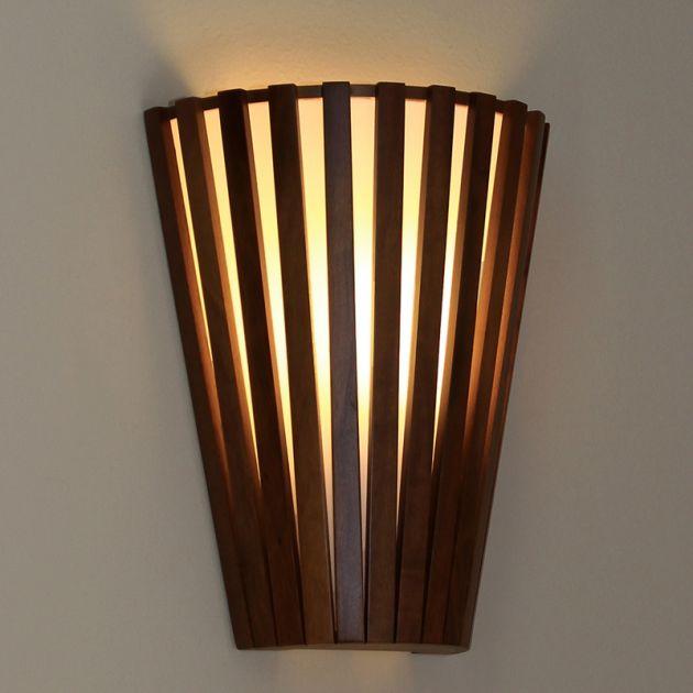 Arandela Ripada Meio Cone - 1 Lâmpada E-27 - 23x30x11 cm