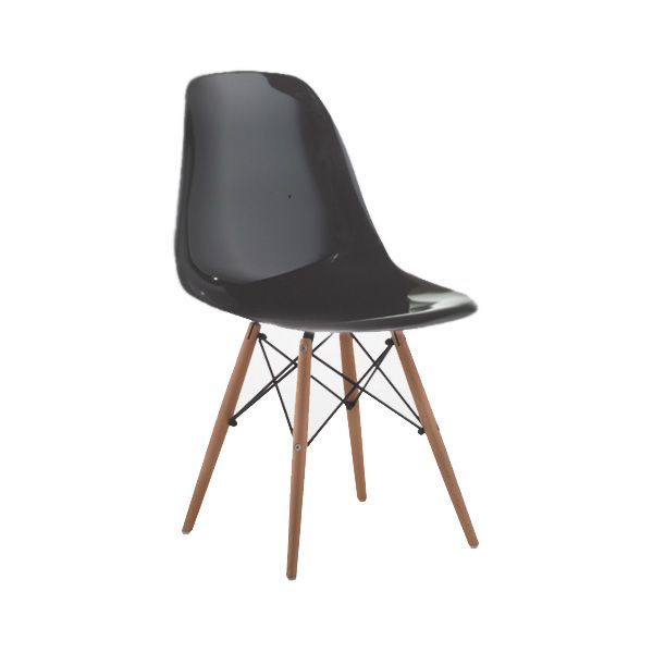 Cadeira em Polipropileno Base de Madeira
