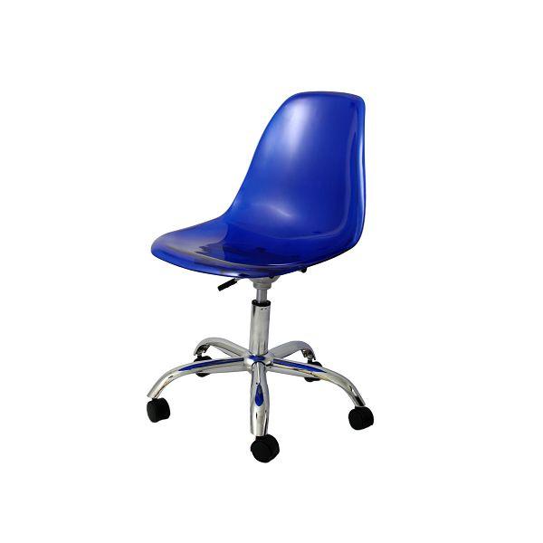 Cadeira Rodízio em Policarbonato - Várias Cores