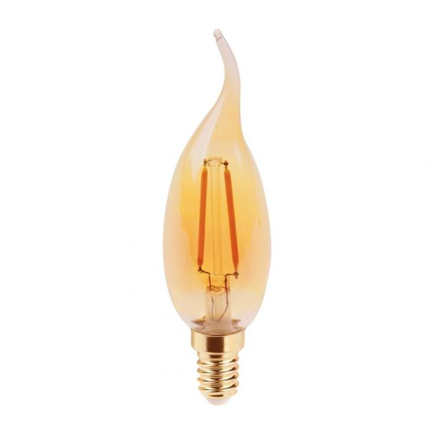 Lâmpada Filamento LED Vela Chama