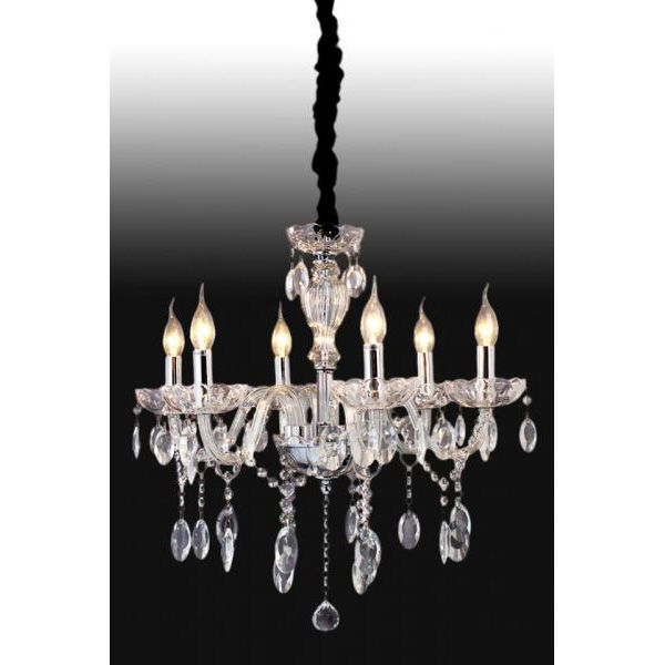 Lustre estilo Maria Tereza em cristal transparente 60x60