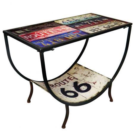 Mesa de centro placas route 66 na ecasa shop mesa de centro placas route 66 thecheapjerseys Image collections
