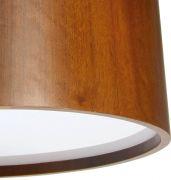 Pendente Redondo em Madeira - 4 Lâmpadas E-27 - 50x25 cm