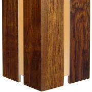 Pendente Retângular - 1 Lâmpada E-27 - 15x15x30 cm