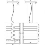 Pendente Retangular Vazado - 1 L