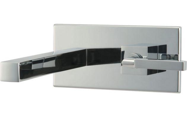 Torneira lavatório parede C/CHAPA DN/20 QUADRAT - Cromado - Deca